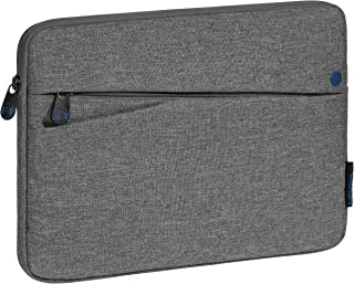 Pedea Tablet PC Tasche Fashion für 10,1 11 Zoll (25,6 27,96 cm) Schutzhülle Etui Case mit Zubehörfach, grau/blau