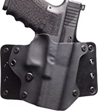 Black Point Tactical Leather Wing OWB Holster Fits Glock 19/23/32, Right Hand, Black