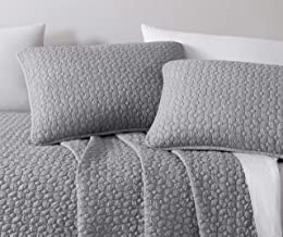 SupraSoft Stone wash Quilted Eli Garment-Dyed 3Pc Coverlet Set | King/Cal-King| L.Grey