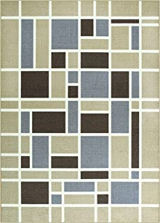 Maples Rugs 5 x 7 Non Slip Large Area Rugs [Made in USA] for Living Room, Bedroom, and Dining Room, Neutral