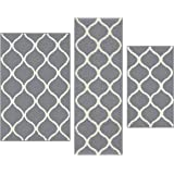 Maples Rugs Rebecca [3pc Set] Non Kid Accent Throw Rugs Runner [Made in USA] for Entryway and Bedroom
