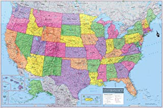 CoolOwlMaps United States Wall Map Poster 36