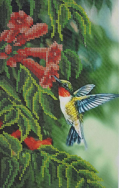 Humming Bird Bead Embroidery kit Bird Needlepoint Tapestry Kits Beaded Cross Stitch Beading Pattern DIY Wall Hanging 3D Perle Set Bordado
