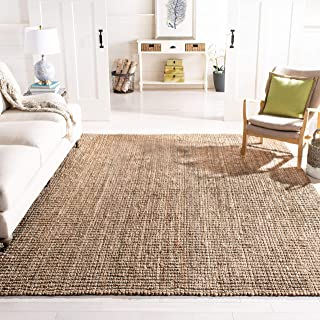 Safavieh Natural Fiber Collection NF447M Hand Woven Natural and Grey Jute Area Rug (6' x 9')