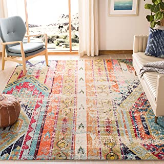 Safavieh Monaco Collection MNC222F Modern Bohemian Distressed Area Rug, 8' x 10', Multi
