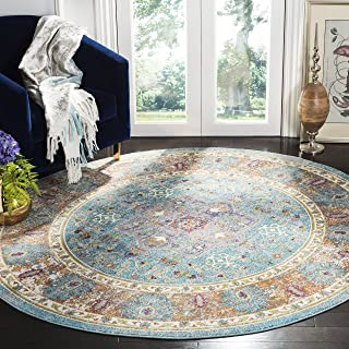 Safavieh Aria Collection Premium Wool Round Area Rug, 6'5