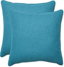 Pillow Perfect Outdoor | Indoor Rave Peacock 16.5 Inch Throw Pillow, 16.5 X 16.5 X 5, Blue