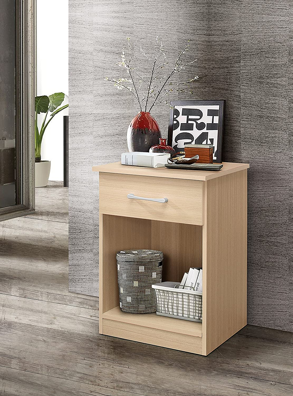 Glory Furniture Lindsey G0041-N RTA, Beech Nightstand, Side Table 24  H x 18  W x 16  D