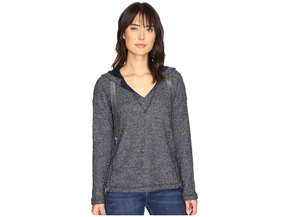 Splendid Morrow Bay Boxy Hoodie (Navy) Women