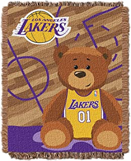 Officially Licensed NBA Half Court Woven Jacquard Baby Throw Blanket 0669739c6