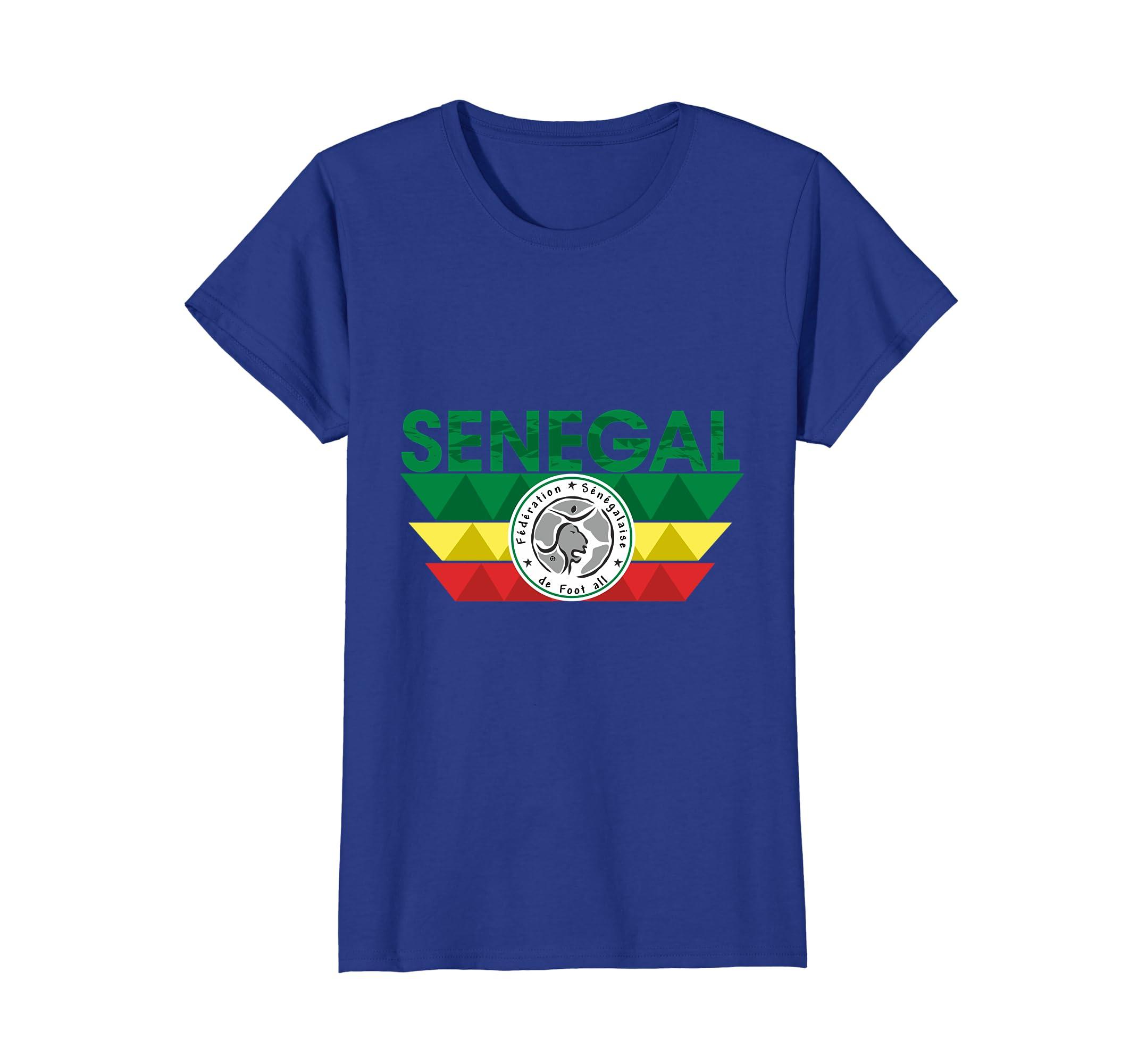 finest selection 5548c 05e6d Amazon.com: Senegal Soccer - Senegalese Football T-shirt ...