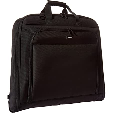 Amazon Basics Premium Travel Hanging Luggage Suit Garment Bag, 21.1 Inch, Black
