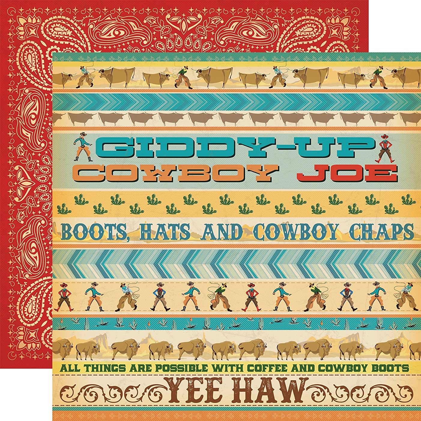 Echo Park Paper Giddy Up Cowboy Country Double-Sided Cardstock 12