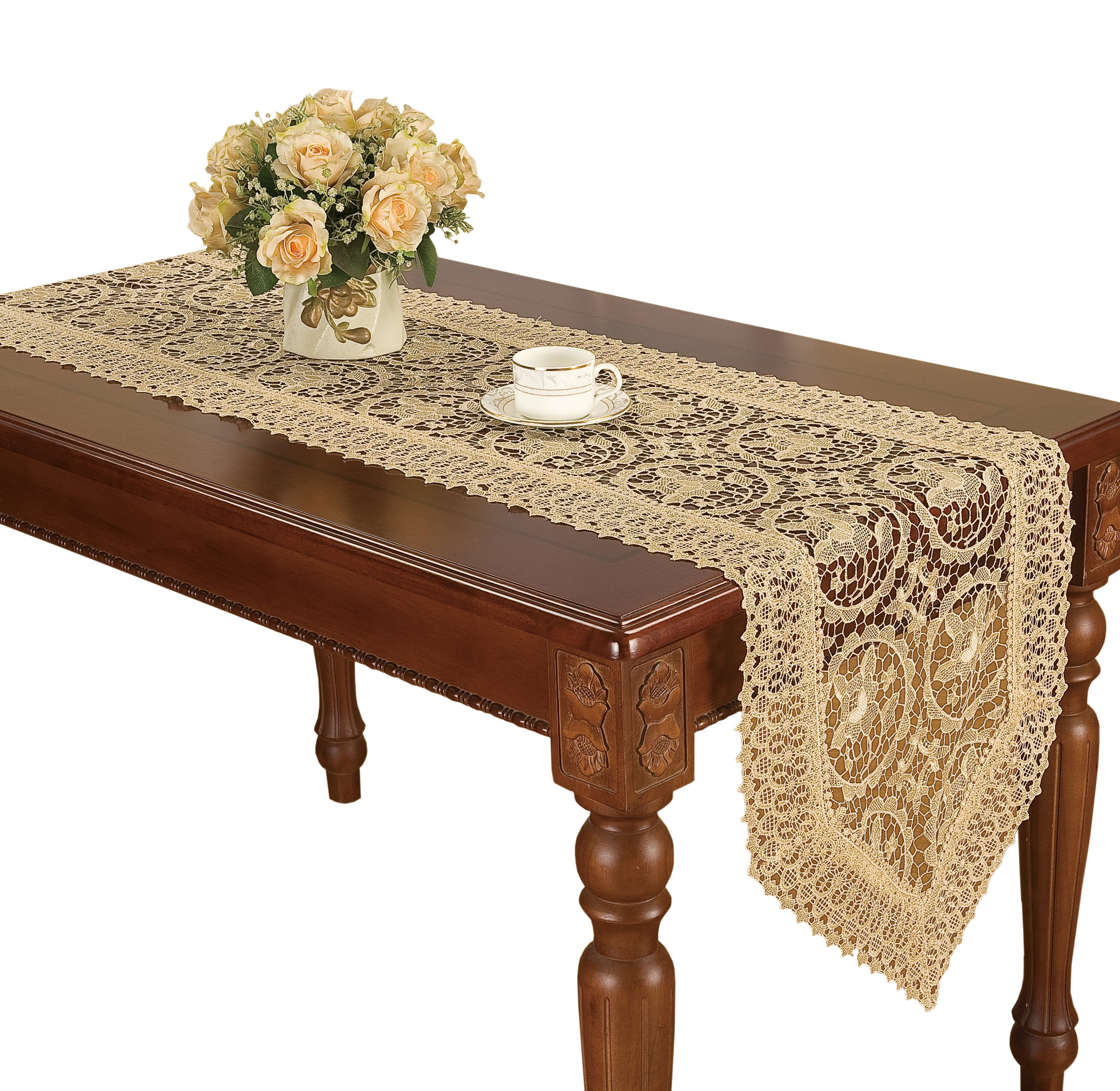 simhomsen vintage beige lace table