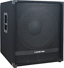 """Sound Town METIS Series 2400 Watts 18"""" Powered Subwoofer with Class-D Amplifier, 4-inch Voice Coil (METIS-18SDPW)"""