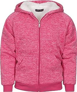 Girl's Fleece Full-Zip Hooded Sweatshirt with Sherpa Lining