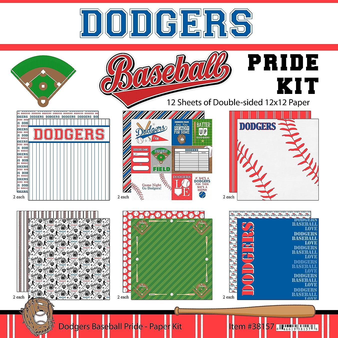 Scrapbook Customs Dodgers Pride Baseball Scrapbook Kit