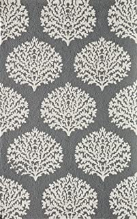 Momeni Rugs  Veranda Collection Contemporary Indoor & Outdoor Area Rug, 8' x 10', Grey