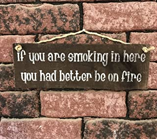 If You Are Smoking In Here You Had Better Be On Fire Plaque