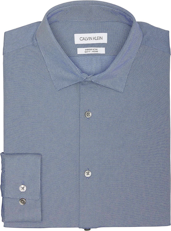 Max 48% OFF Calvin Klein Men's Dress Shirt Slim St 4-Way Fit Active High order Everyday