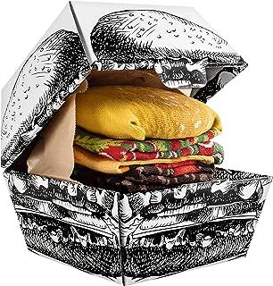 Men Women Funny Burger Socks Box - 2 Pairs