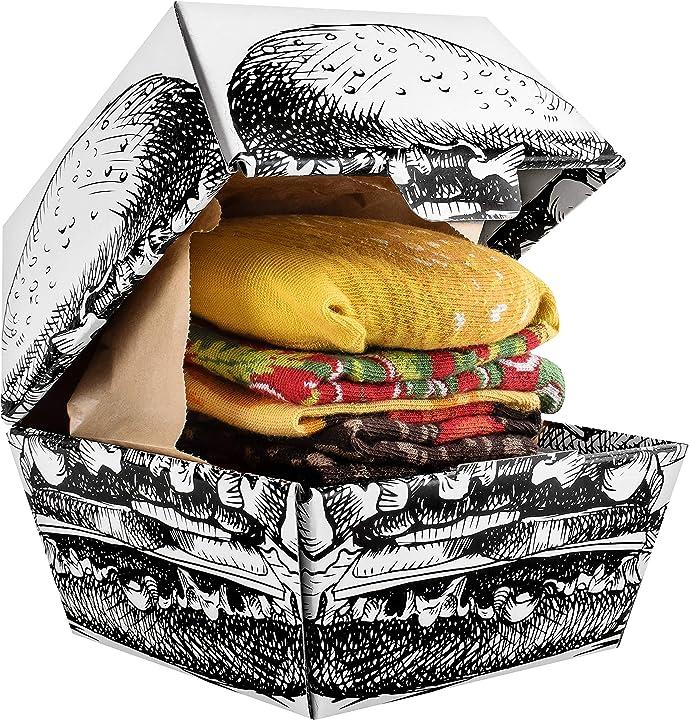 Rainbow socks - donna uomo divertenti hamburger calze - 2 paia B07W61WTXS