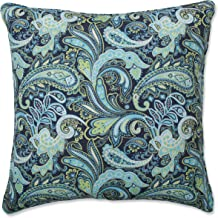 Pillow Perfect Outdoor   Indoor Pretty Paisley Navy 25 Inch Floor Pillow, 25 X 25 X 5, Blue