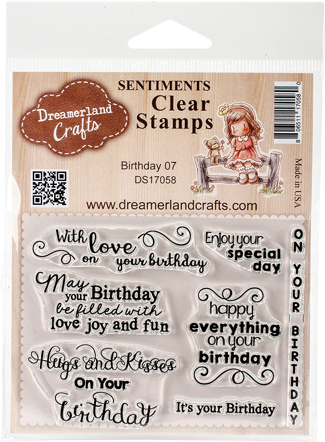 DreamerlandCrafts DS17058 Clear Stamp Set 3