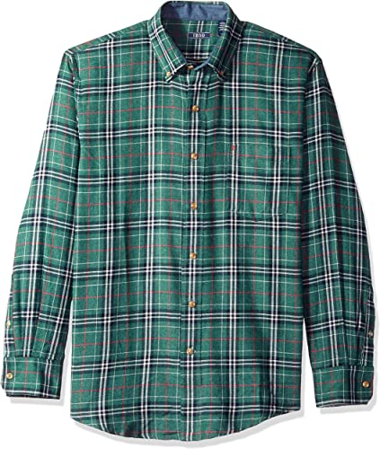 IZOD Hommes's Tall LS Flannel Plaid, Botanical Garde, 4X-grand Big