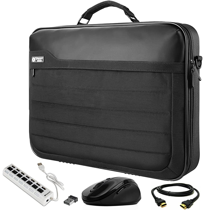 VanGoddy Laptop Briefcase Bag with HDMI Cable, Mouse, and USB Hub Suitable for Razer Blade Pro 17.3inch Gaming Laptop