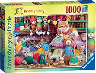 Ravensburger Knitty Kitty 1000 Piece Jigsaw Puzzle for Adults and Kids Age 12 and Up