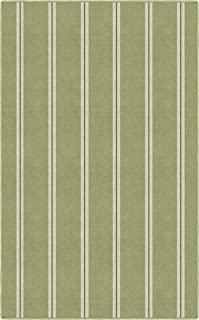 Brumlow Mills Vertical Green Traditional Striped Area Rug, 2'6