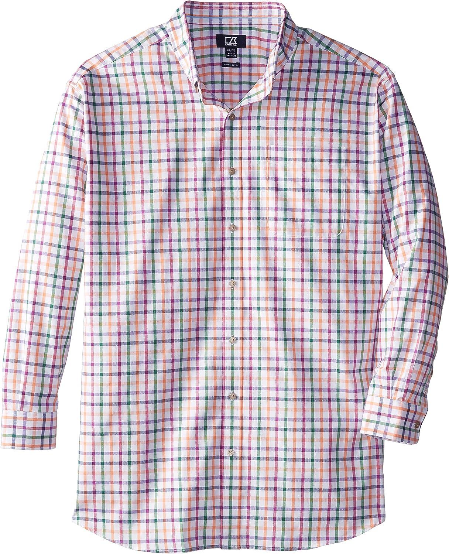 Cutter & Buck Men's Big-Tall Long Sleeve Sunrise Plaid Shirt