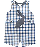 Mud Pie Gingham Easter Bunny Shortall (Infant)