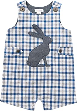 Mud Pie - Gingham Easter Bunny Shortall (Infant)