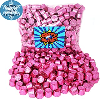 CrazyOutlet Pack - Rolo Chewy Caramel Pink Foil Milk Chocolate Candy, It's A Girl Party Candy, 2 lbs
