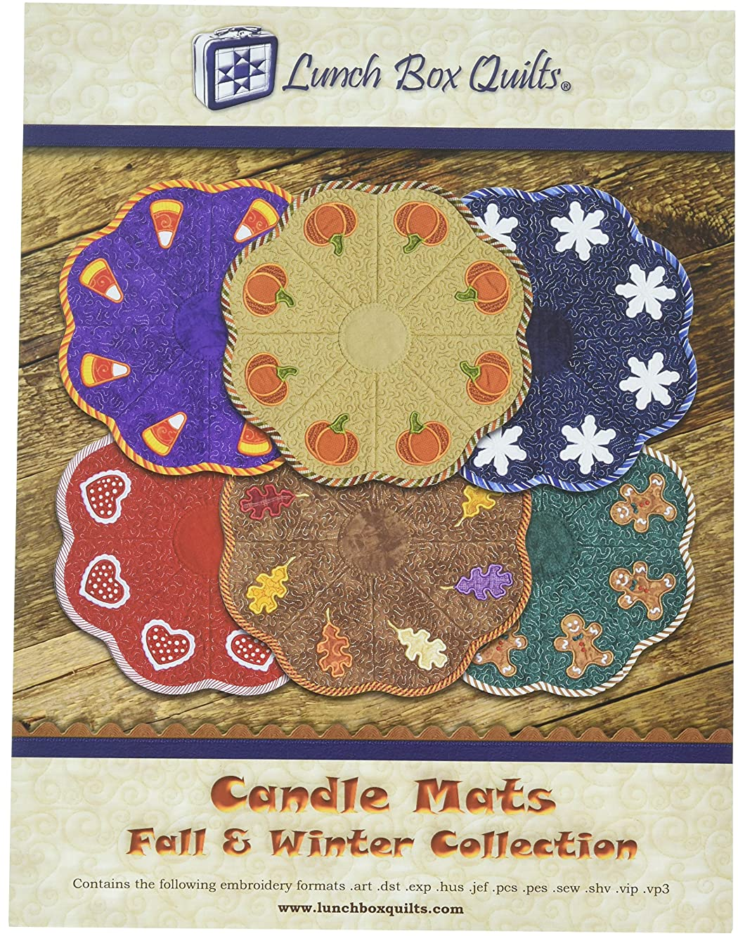 Lunch Box Quilts EC-CA1-DD Candle Mats Fall and Winter Collection Pattern