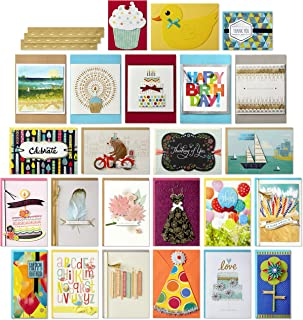 Hallmark All Occasion Handmade Boxed Greeting Card Assortment (Pack of 24)—Birthday, Baby, Wedding, Sympathy, Thinking of You, Thank You, Blank
