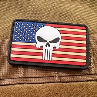 NEO Tactical Gear Punisher American Flag PVC Morale Patch