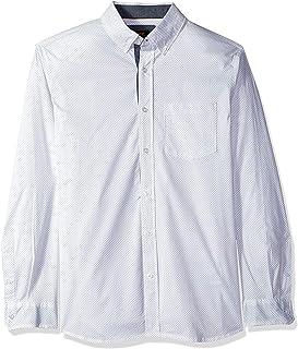 Lee Uniforms Men's Long Sleeve Printed Woven Button Down Shirt