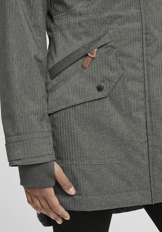 OXMO Bella Damen Übergangsmantel Parka Lange Jacke Dark Grey (792890)