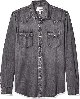 rugged denim shirt