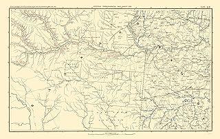 388888c42 Civil War Map Print - Parts of Kansas