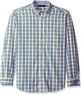 Nautica Plaid Classic Fit Camisa Casual para Hombre