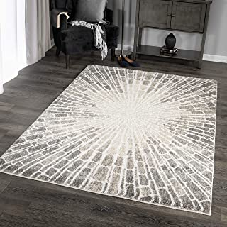 Orian Rugs Super Shag Collection 392593 Starburst Area Rug, 7'10