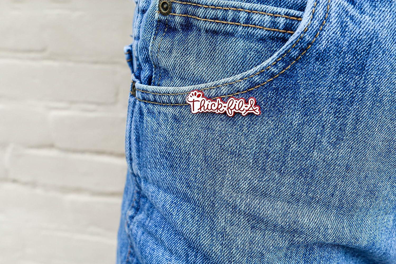 Cute Pins Button Pins Hat pins Cool Pins {2 Pack} THICK-FIL-A Enamel Pin Enamel Pins for Backpacks Meme Pins