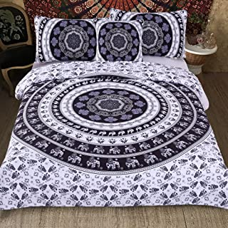 Sleepwish 4 Pcs Style Bed Covers Black and White Mandala Duvet Cover King Bedspread Boho Paisley Bedding