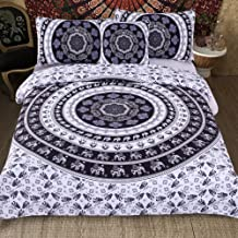 Sleepwish 4 Pcs Style Bed Covers Black and White Mandala Duvet Cover King Bedspread Boho Paisley Bedding