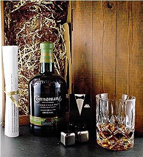 Geschenk Connemara Original irischer Single Malt Whiskey  Glas  2 Whisky Kühlsteine