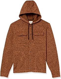 Amazon Brand - Goodthreads Men`s Sweater-Knit Fleece Long-Sleeve Shirt Jacket with Hood